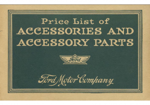 1916 Ford Accessories