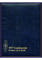 1977 Lincoln Continental Facts Book