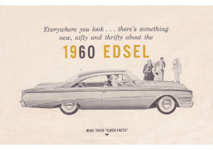 1960 Edsel Quick Facts