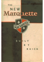 1930 Marquette Booklet