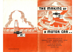 1933 Chevrolet The Making of A Motor Car