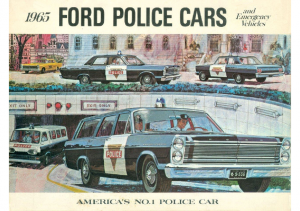 1965 Ford Police Cars