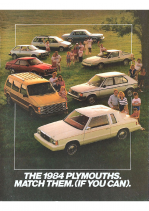 1984 Plymouth Full Line