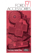 1971 Ford Accessories Folder