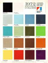 1972 AMC Exterior Colors Chart